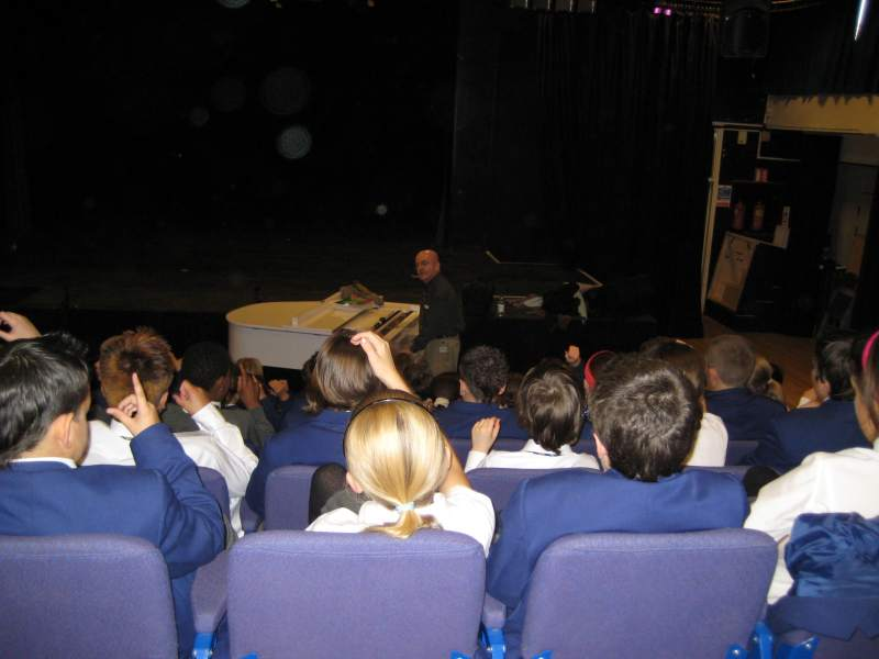 Lecturing at St. Benedict Catholic School and Performing Arts College, Derby, England