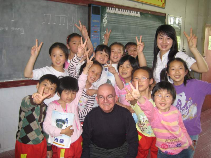 Third grade class, Central China Normal University, Wuhan, China